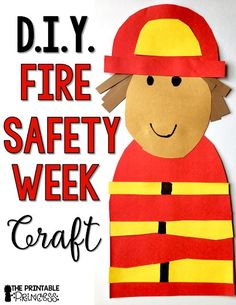 Need fire safety activities & centers for Kindergarten? You're going to LOVE this! Click to see great book ideas, a cute fireman craft, some great free downloads, & more! Even your preschool or first grade students will enjoy these, as will homeschool families! Let your primary students enjoy the freebies, picture sort, printables, sound practice, letters, numbers, counting, patterns, & more!  Great for Fire Safety Week in October #classroom #teacher #kindergarten #firstgrade #printableprincess