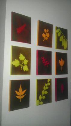 paint  background with fall colours?