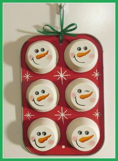 Hey, I found this really awesome Etsy listing at https://www.etsy.com/listing/214053654/muffin-tin-snowmen