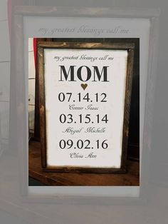 Mother's Day Personalized for Mom - Wife #housewares #homedecor @EtsyMktgTool #farmhouse #sign #wood #small #mom #blessing #personalized