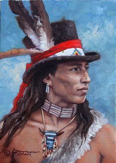 Steven Lang Fine Western Art, Oil on Canvas paintings of old west landscapes and cowboys as well as native americans. Steven Lang's Fine Art paintings have become prized possessions of collectors of western and native american art. Native American Face Paint, Native American Warrior, Native American Paintings, Native American Images, Native American Artists, American Indian Art, Native American Indians, American Symbols, American Women