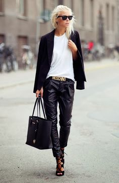 Leather Trousers | Street Style