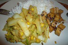Chinesekoolcurry met sesamtofu