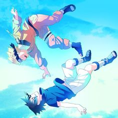Naruto Uzumaki and Sasuke Uchiha Naruto Vs Sasuke, Anime Naruto, Naruto Cute, Naruto Funny, Naruto Shippuden Anime, Otaku Anime, Kid Naruto, Kakashi Hatake, Sasunaru