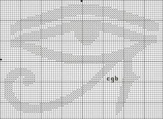 Eye of Ra / Udjat Symbol Cross Stitch Pattern