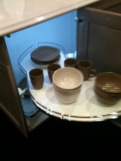 in Richelieu booth. Fitted Cabinets, Kitchen And Bath Design, Good Things, Tableware, Dinnerware, Tablewares, Dishes, Place Settings