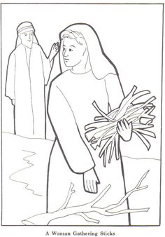 Elijah and the Widow Coloring Page New Bible with Images Bible Story Crafts, Bible Stories, Elijah Bible, Elijah And The Widow, Sunday School Coloring Pages, Christian Images, Bible Coloring Pages, Bible Pictures, Sunday School Crafts