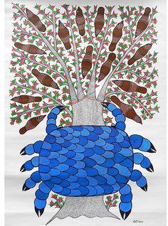 Tribal Art & Folk Art of India Madhubani Art, Madhubani Painting, Tribes In India, Phad Painting, Art Tribal, Indian Folk Art, Mural Art, Traditional Art, Online Art Gallery