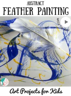 Feather Painting - Kinder malen tolle Kunstwerke mit Federn