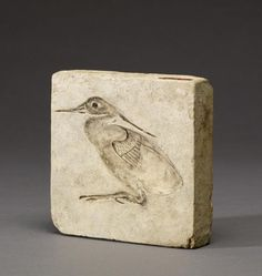 Mould Plaque for a Heron - Greco-Roman Egypt - 2nd-1st Century BC This mold depicts a heron, a bird associated with the sun, the annual flooding of the Nile, and the afterlife. The Walters Art Museum