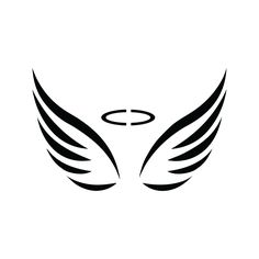 Laser cut reusable Angel Wings Stencils. Made from highly durable food safe Mylar. DIY craft Angel Wings Stencil w/ fast shipping. Produced in the USA.