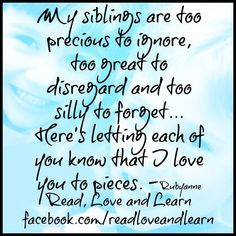 I Love Quotes for sisters | Pinned by Pitchada
