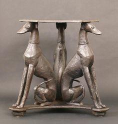 Harlem Renaissance, Animal Sculptures, Sculpture Art, Unusual Garden Ornaments, Greyhound Kunst, Art Nouveau, Lurcher, Art Deco Furniture, Italian Greyhound