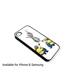 Olaf and the minion  iphone case and samsung case by DCsub on Etsy, $13.89