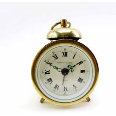 Phinney-Walker German Made Classic Brass Travel Alarm Clock Mid... (€14) ❤ liked on Polyvore featuring home, home decor, clocks, brass clock, brass home decor and brass home accessories