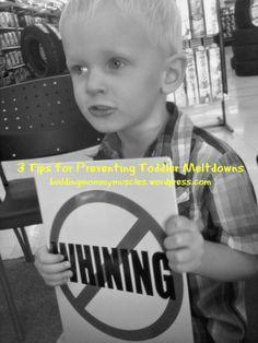 3 tips for preventing toddler meltdowns