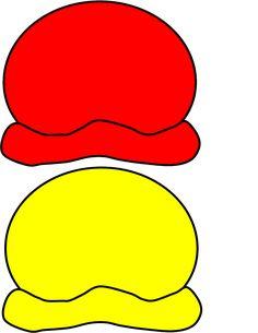 red & yellow ice cream scoops for colour matching exercise Preschool Colors, Free Preschool, Kindergarten Activities, Book Activities, Mig E Meg, Diy Busy Books, Country School, Classroom Birthday, File Folder Activities