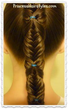 Cute ponytail idea, the fishtail wrap braid