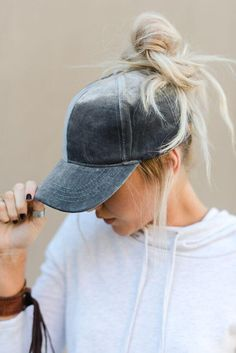 Velvet baseball cap with messy bun hole and adjustable closure. These messy  bun baseball hats are GENIUS! Cut out hole on top for your ponytail or  messy bun ... 9b50323d8623