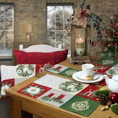 weihnachtstischsets von sander weihnachtsdeko christmas christmas tablescapes und christmas. Black Bedroom Furniture Sets. Home Design Ideas