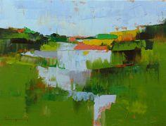 "Field 953"" Original oil landscape on canvas 16"" x 12"" x 1"""