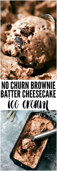 No Churn Brownie Batter Ice Cream No ice cream maker needed for this delicious brownie batter cheesecake flavored ice cream! No Churn Brownie Batter Ice Cream No ice cream maker needed for this delicious brownie batter cheesecake flavored ice cream! Brownie Desserts, Oreo Dessert, Köstliche Desserts, Frozen Desserts, Frozen Treats, Delicious Desserts, Dessert Recipes, Yummy Food, Tasty