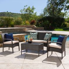 Enjoy lazy afternoons with your family and friends with the Christopher Knight Home Cordoba chat set.  Made out of wicker and powder coated iron this set will look good year after year.