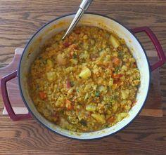Spiced Red Lentil Vegetable Stew
