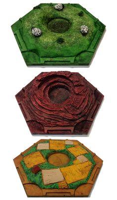 3D-Siedler von Catan-Ressource-Fliesen