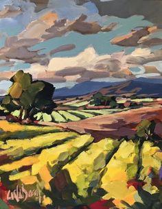 Who Buys Landscaping Rocks Key: 6190931044 Landscape Artwork, Contemporary Landscape, Watercolor Landscape, Contemporary Paintings, Watercolor Artists, Watercolor Painting, Impressionist Landscape, Guache, Large Art