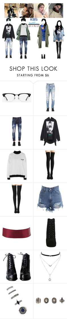 """DINO ON KBS KISS THE RADIO"" by dino-official ❤ liked on Polyvore featuring EyeBuyDirect.com, Palm Angels, Dsquared2, Hood by Air, Puma, Tamara Mellon, Charlotte Russe, Hot Topic, Jessica Simpson and Forever 21"