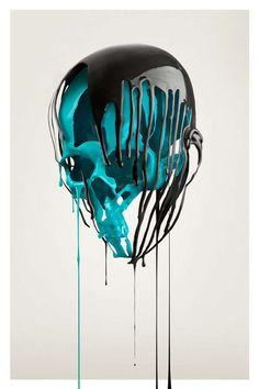 pintura en cráneos