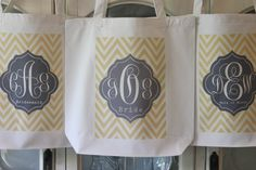"""4 """"CHEVRON TAG"""" Tote Bags in your choice of 60 colors Great Bridesmaid Gifts  by Modern Vintage Market, an Etsy Shop.  Double click on image and go to their site.  Please mention that you found them thru Jevel Wedding Planning's Pinterest Account.  Keywords:  #chevronthemedweddingideasandinspiration #bridesmaidgifts #totebaggifts #jevelweddingplanning Follow Us: www.jevelweddingplanning.com  www.facebook.com/jevelweddingplanning/"""