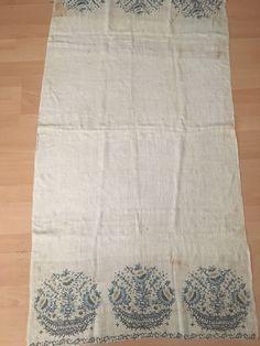 Rare Huge Antique Ottoman-Turkish Silk & Metallic  Hand Embroidered Towel N1 10 • $1,500.00