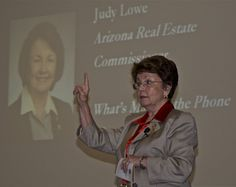 """ADRE Commissioner, Judy Lowe, presented """"What's Making the Phone Ring at ADRE?"""" at our October 31 Executive Event."""