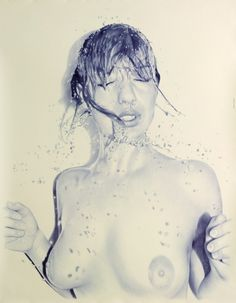 Juan Francisco Casas, a Spanish artist who creates these fantastic nude/sex scene'd drawings with only a Bic pen