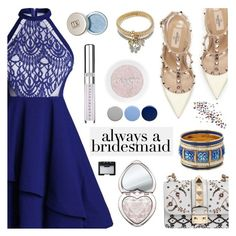 """Always a Bridesmaid - Rosegal"" by dora04 ❤ liked on Polyvore featuring Valentino, Too Faced Cosmetics, Chantecaille, Burberry, NARS Cosmetics and alwaysabridesmaid"