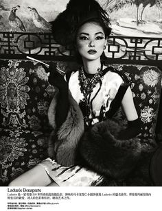 Harper's Bazaar China // October 2012 // Une Journée à Paris // Photographer: Yin Chao  Stylists: Fan Xiaomu & Gugu // Model: Miao Bin Si // Hair: Bon // Makeup: Wang Qian