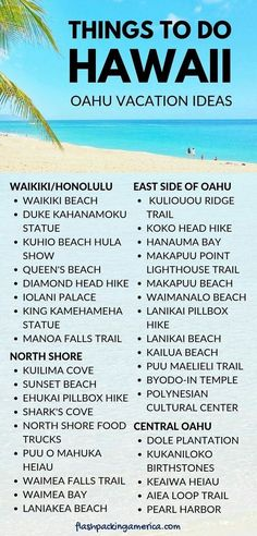 Best things to do in Hawaii on Oahu on a budget with cost of activities. Oahu travel guide with Hawaii bucket list of things to do in Waikiki, in Honolulu, on windward east Oahu, on North Shore, in central Oahu. Places t Oahu Hawaii, Hawaii Honeymoon, Hawaii Wedding, Waikiki Beach, Hawaii Beach, Honeymoon Ideas, Visit Hawaii, Honolulu Oahu, Vacation Ideas
