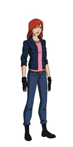 Mary Jane Watson 2 by SpiedyFan on DeviantArt Spectacular Spider Man, Amazing Spider, Marvel Dc, Superboy And Miss Martian, Character Art, Character Design, Comic Costume, Dc Comics, Sanji One Piece