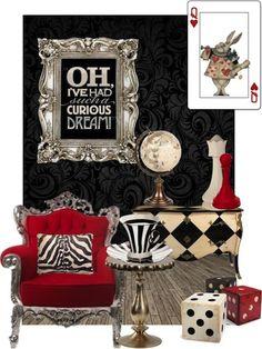 Alice in Wonderland Decor #decor #inspiration
