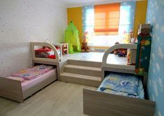 6 Space Saving Furniture Ideas for Small Kids Room - Page 3 of 3 Many parents are faced with the problem of furnishing small-scaled kids' rooms. Check out these 6 Space Saving Furniture Ideas for your inspiration. Small Space Nursery, Pull Out Bed, Small Nurseries, Kids Bedroom Sets, Cozy Bedroom, Modern Bedroom, Kid Bedrooms, Children Bedroom Furniture, Bedroom Decor