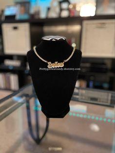 Add your custom name Name Necklace, Custom Jewelry, Celebrities, Fashion, Moda, Celebs, Personalized Jewelry, Fashion Styles, Fashion Illustrations