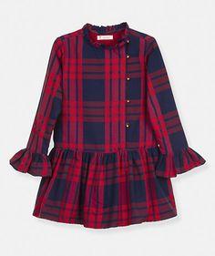 Vestido de xadrez com folho Vestidos Menina Kids (2-6 anos)  45b561f705e