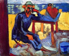 Portrait of Henri Matisse, c. 1905 , by Andre Derain - Cd Paintings Henri Matisse, Andre Derain, Art Fauvisme, Maurice De Vlaminck, Matisse Paintings, Raoul Dufy, Georges Braque, Colorful Paintings, French Artists