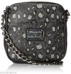 700fa9504 Hello Kitty Black/grey Leopard Chain Cross Body Bag Multi One Size for sale  online | eBay