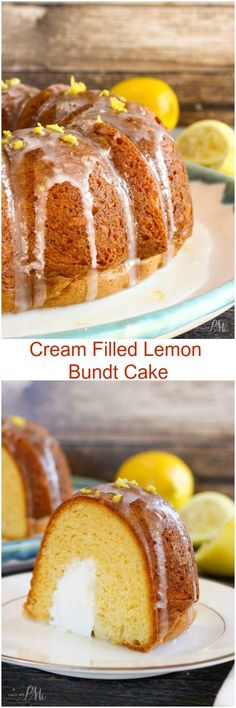 Cream Filled Lemon Bundt Cake » Call Me PMc