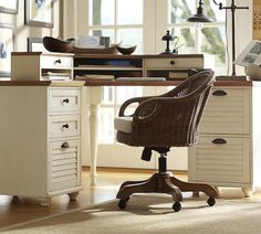 Whitney Corner Desk Set - Almond White | Pottery Barn