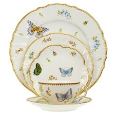 Anna Weatherley Spring In Budapest Five Piece Place Setting Herend Factory