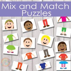 Free Printable Mix and Match Puzzles That Will Give Hours of Fun